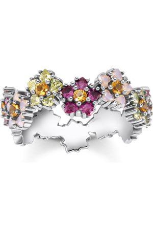 Thomas Sabo Damen Ringe - Ring Blumen farbige Steine silber