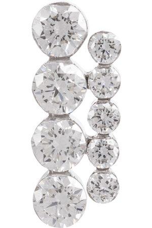 Maria Tash Einzelner Ohrring Aspara Bar aus 18kt Weißgold mit Diamanten