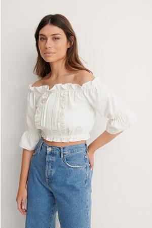 Trendyol Damen Blusen - Rüschenbluse - White