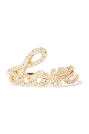 Rosa De La Cruz Love Text Diamond & 18kt Ring