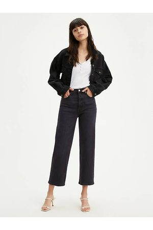 Levi's Ribcage Straight Ankle Jeans - Neutral / Neutral