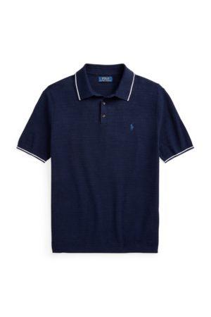 Polo Ralph Lauren Baumwoll-Leinen-Pullover mit Polokragen
