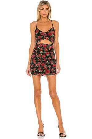 NBD Damen Bedruckte Kleider - Juli Mini Dress im & Red Floral in . Size XS, S.