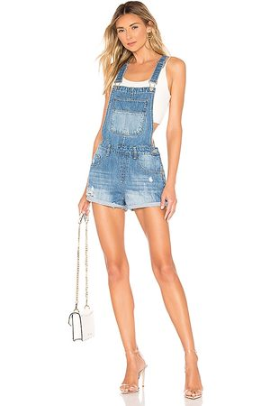 superdown Carmen Denim Short Overalls in . Size M, S, XL, XS, XXS.