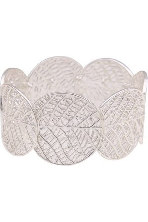 Leslii Armbänder - Armband »XXL Blatt-Muster«, mit glänzenden Elementen