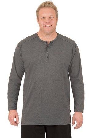 Trigema Herren Longsleeves - Langarmshirt mit Knopfleiste