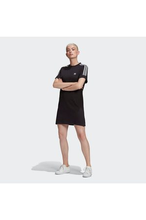 adidas Damen Freizeitkleider - Shirtkleid »ADICOLOR CLASSICS ROLL-UP SLEEVE T-SHIRT-KLEID«