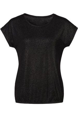vivance collection T-Shirt mit silbrigem Glitzerdruck