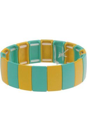 Leslii Armband, mit zweifarbigen Metall-Streifen