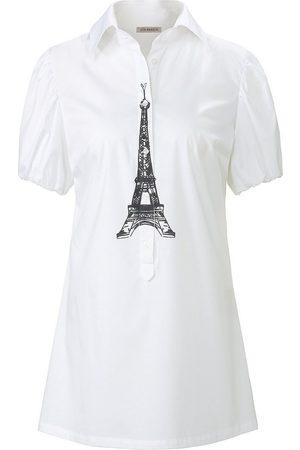 Uta Raasch Bluse in ausgestellter Form weiss