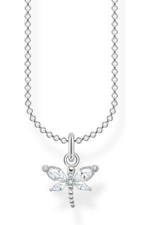 Thomas Sabo Damen Halsketten - Kette Libelle weiße Steine