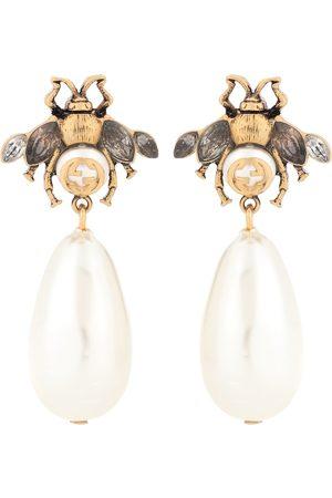Gucci Ohrringe mit Kristallen und Perlen