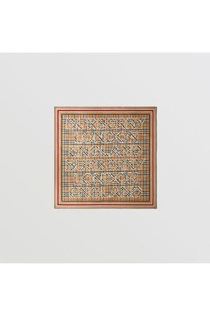 Burberry Damen Schals - Seidenkarreeschal mit Vintage Check-Muster und -Logo