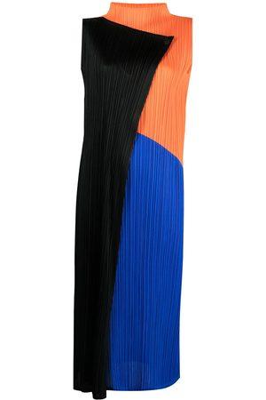 PLEATS PLEASE ISSEY MIYAKE Damen Freizeitkleider - Kleid in Colour-Block-Optik