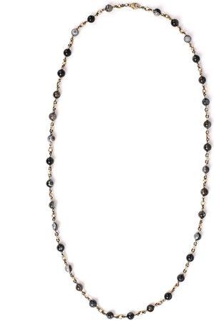 Sylva & Cie Damen Halsketten - 18kt Gelbgoldhalskette mit Perlen