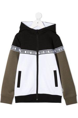 HUGO BOSS Jungen Sweatjacken - Kapuzenjacke mit Logo-Streifen