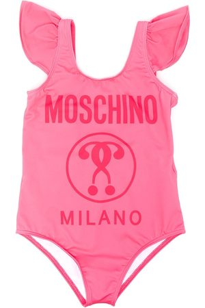 Moschino Gerüschter Badeanzug mit Logo