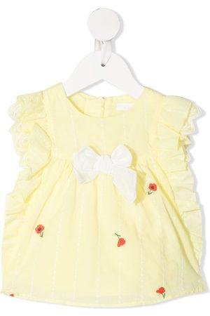 Chloé Baby Blusen - Bluse mit Blumenstickerei