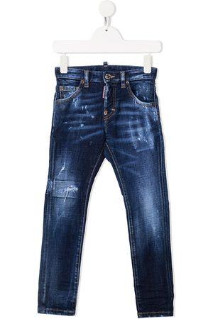 Dsquared2 Kids Jungen Cropped - Jeans in Distressed-Optik