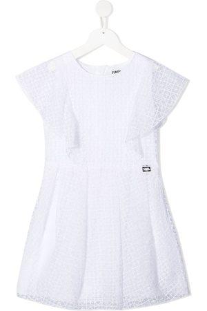 Karl Lagerfeld Mädchen Bedruckte Kleider - Gemustertes Kleid mit Volants