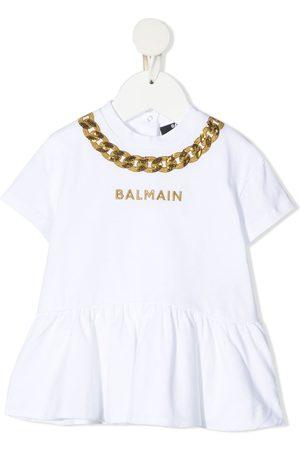 Balmain T-Shirtkleid mit Kettenstickerei