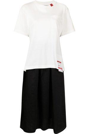 Maison Mihara Yasuhiro Kleid im Layering-Look