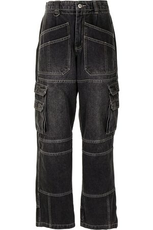 Ground Zero Damen Straight - Gerade Jeans mit hohem Bund