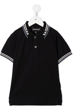 Emporio Armani Poloshirt mit Intarsien-Logo