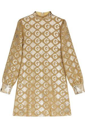 Gucci Jacquard-Kleid aus Lamé