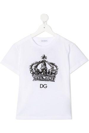 Dolce & Gabbana T-Shirt mit Kronen-Print