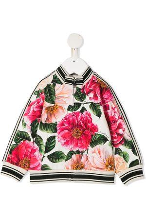 Dolce & Gabbana Kids Sweatshirtjacke mit Blumen-Print