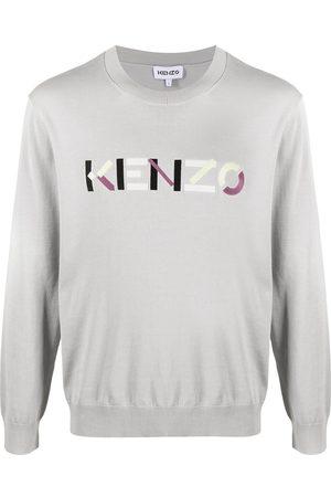 Kenzo Herren Strickpullover - Pullover mit Logo-Stickerei
