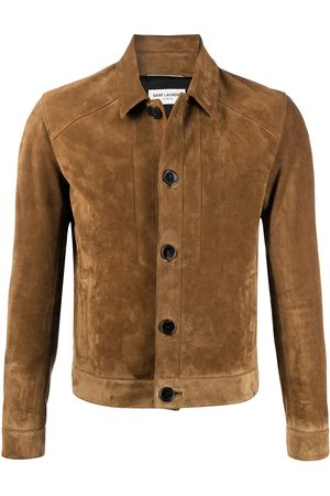 Saint Laurent Jacke aus Wildleder