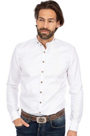 Gipfelstürmer Herren Trachtenhemden - Stehkragenhemd BF 420001-3829-1 weiss