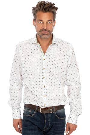 OS-TRACHTEN Herren Trachtenhemden - Trachtenhemd SONNBLICK weiss grün