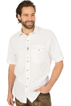 OS-TRACHTEN Herren Trachtenhemden - Trachten Kurzarmhemd GARRET weiss