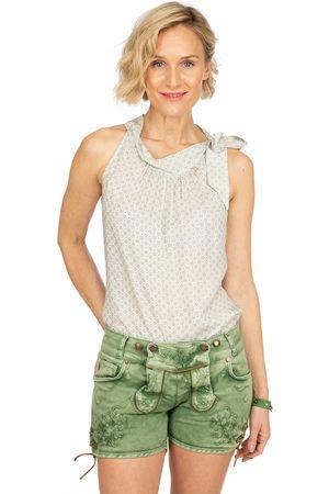 hangOwear Damen Shorts - Jeans Short OVIDA dunkelgrün