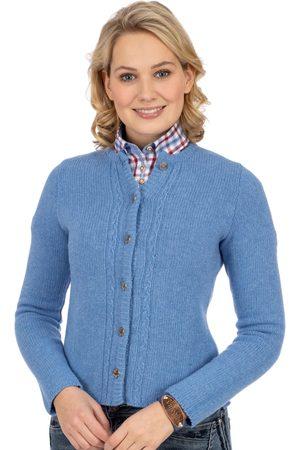 AlpSpur Damen Trachtenjacken - Strickjacke LISA6 hellblau