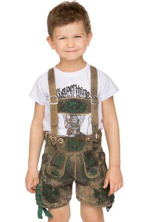 Stockerpoint Kinder Lederhosen - Trachten Kinder Lederhose CHARLY oldtanne kurz mit H-Träger