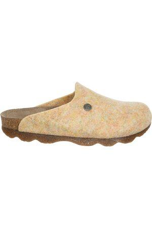 Genuins Damen Hausschuhe - Pantoffel G101609 HELSINKI PETT MixYellow