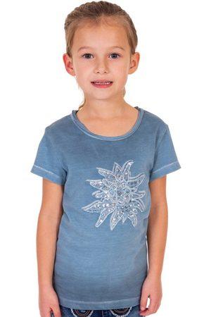 MARJO Trachten Kinder T-Shirt K04 EDELWEISS KIDS countryblue
