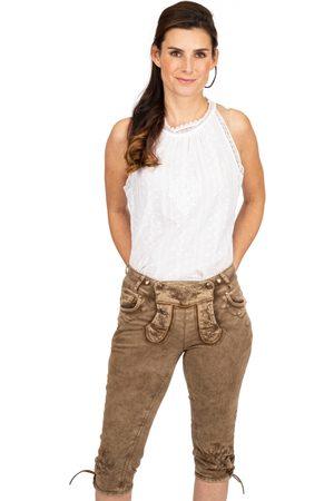 hangOwear Damen Cropped - Jeans Kniebund OVIDA schlamm