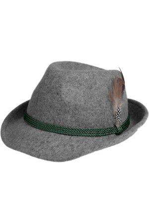 Schuhmacher Damen Hüte - Trachtenhut HT750 grau mit Feder