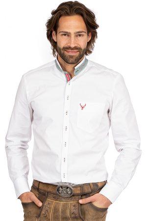 OS-TRACHTEN Herren Trachtenhemden - Stehkragenhemd BASTI grün