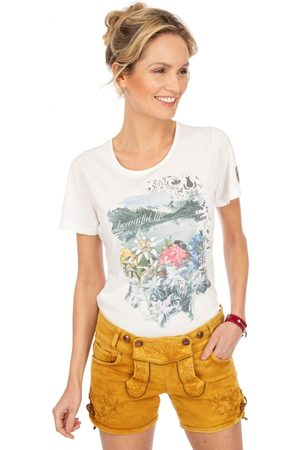 hangOwear Damen Shorts - Jeans Short OVIDA senfgelb