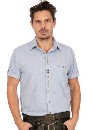 OS-TRACHTEN Herren Trachtenhemden - Kurzarmhemd TRAUFBERG