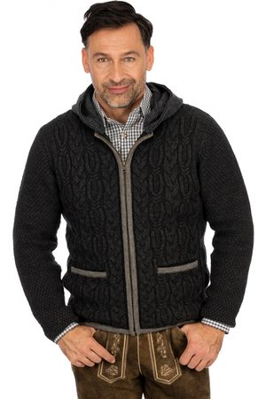 Mark Maddox Strickjacke HOCHSTAUFEN anthrazit