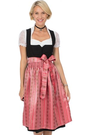 Stockerpoint Damen Dirndl - Dirndlschürze SC265 midi 70cm flamingo
