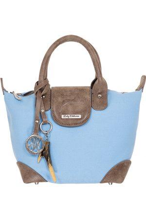 LADY EDELWEISS Damen Handtaschen - Henkeltasche 15008 hellblau