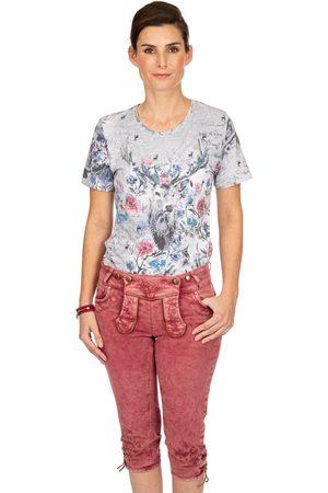 hangOwear Damen Cropped - Jeans Kniebund OVIDA weinrot